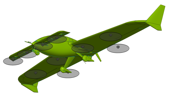 e-Go SS hybrid VTOL study